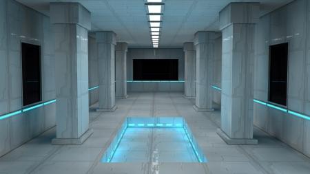 Scifi design interior Stock Photo - 17806012