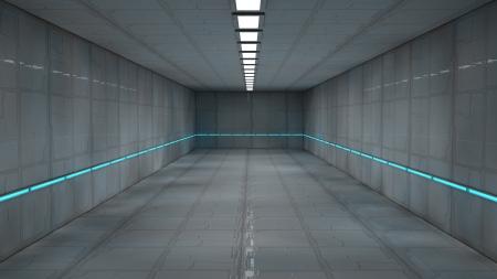 Scifi design interior Stock Photo - 17806019