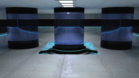 inner cylinder: Scifi design interior