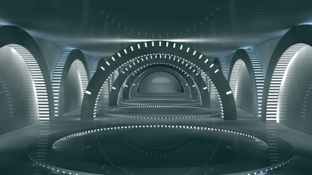 Futuristic interior  SCIFI Stock Photo - 17992138