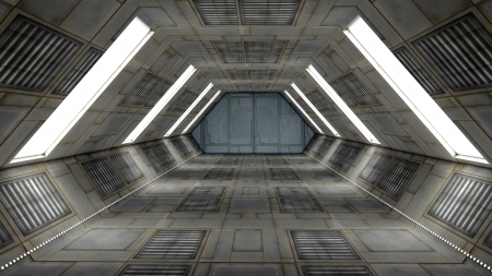 Futuristic interior  SCIFI Stock Photo - 17992113
