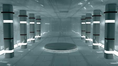 tunnel: Futurista SCIFI interior