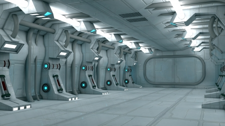 Futuristic interior  SCIFI Stock Photo - 17992134