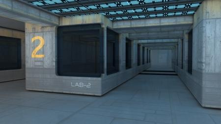 Futuristic interior  SCIFI photo
