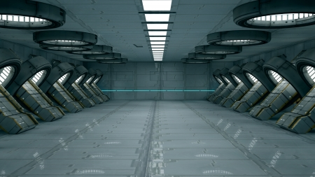Futuristic interior  SCIFI Stock Photo - 17992116