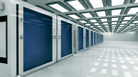 Render farm Stock Photo