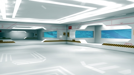 Futuristic space ship passenger seat