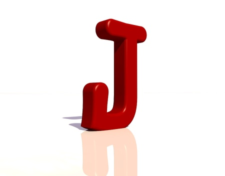 cheery: Letter j Stock Photo
