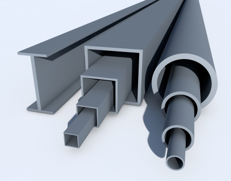 extrusion: Industrial tubes Stock Photo