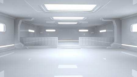 raumschiff: Futuristischer Innenraum SCIFI