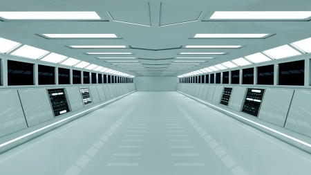 SCIFI interior white photo