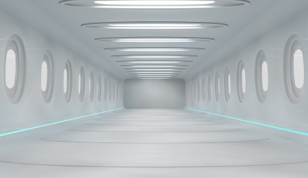 Futuristic interior photo