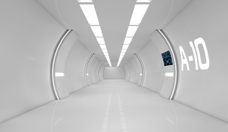 future space: Futuristic interior