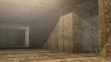 tomb: Futuristic pyramid interior