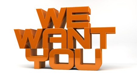 We want you Stock Photo - 23407168