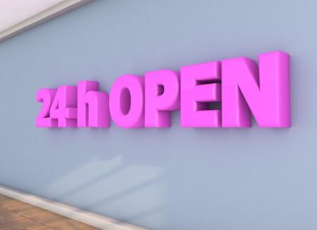 24 hours: 24 hours open