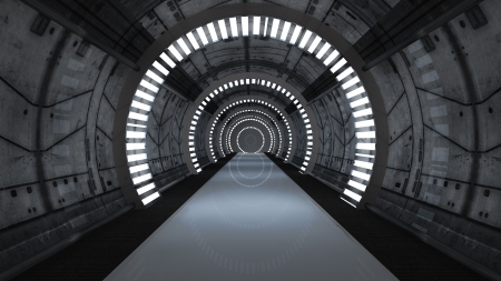 Futuristic interior  SCIFI Stock Photo - 25372922