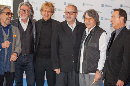 Spanish top 5 hairdressers,  A Cerd�n, J Pons, Ll Llongueras, R  Pages and Santi Torras  And Felip Puig, Conseller of the Generalitat of Catalonia at STS Beauty Barcelona 2014