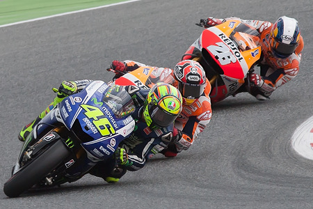 Monster Energy Grand Prix of Catalunya MotoGP  Drivers, Rosi, Marquez, Pedrosa  MOTOGP Stock Photo - 29151887