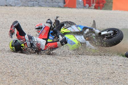 hn: Accident Jan Bühn  Team Talasur  FIM CEV Repsol International Championship Editorial