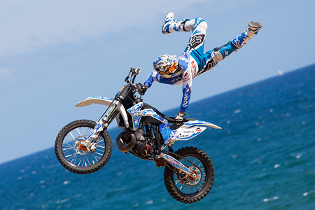 xavi: Rider Xavi Dols  FMX Freestyle Extreme Barcelona 2014  Barcelona, Spain  29 june, 2014