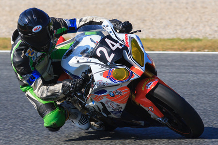 motorcycling: Rider Johann Suard  Team 24Racing  24 hours OF CATALONIA Motorcycling competition  July, 5, 2014