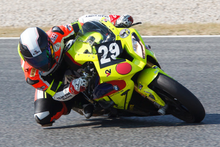 motorcycling: Rider Gerald Vinet  Team Vinet Racing  24 hours OF CATALONIA Motorcycling competition  July, 5, 2014