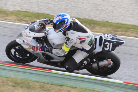motorcycling: Rider Jose Maria Rodriguez  Team Gas Endurance  24 hours OF CATALONIA Motorcycling competition  July, 6, 2014 Editorial