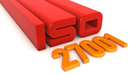 ISO 27001 texts Stock Photo
