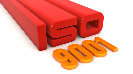 ISO 9001 texts Stock Photo