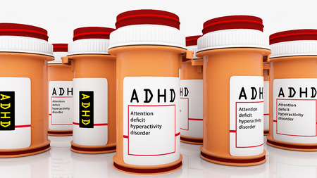 Attention disorder medicines Stock Photo