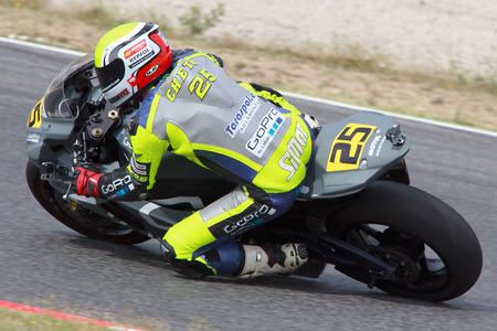 motorcycling: Rider Massimiliano Chetry  MC• Turons Team  Mediterranean Motorcycling Championships 20 July 2014  Circuit de Catalunya  Barcelona, Spain