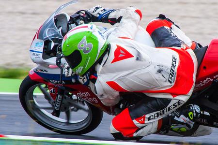 motorcycling: Rider Alan Malo  PM Oscense Team  Mediterranean Motorcycling Championships 20 July 2014  Circuit de Catalunya  Barcelona, Spain