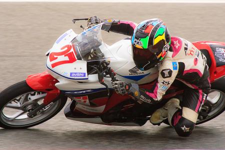 motorcycling: Rider Alejandro Diez  Independent Team  Mediterranean Motorcycling Championships 20 July 2014  Circuit de Catalunya  Barcelona, Spain