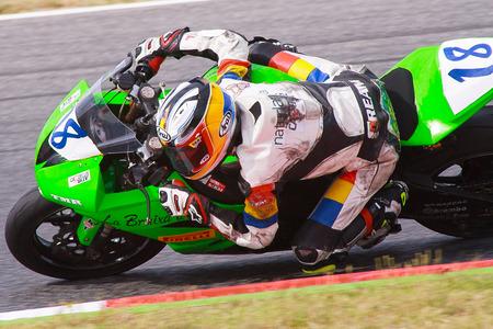 superbike: Rider Xavier Cardelus  MC Pirineu Team  Mediterranean Motorcycling Championships 20 July 2014  Circuit de Catalunya  Barcelona, Spain