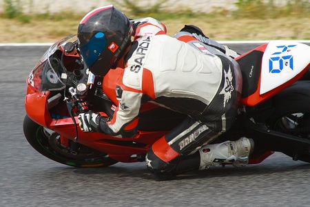 motorcycling: Rider Joan Sardanyons  MC Du-Dux Team  Mediterranean Motorcycling Championships 20 July 2014  Circuit de Catalunya  Barcelona, Spain
