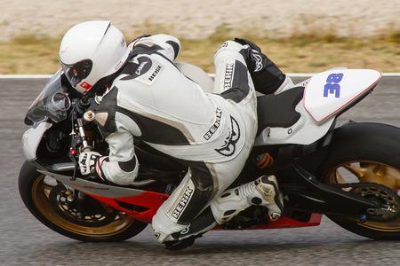 motorcycling: Rider Robert Queral  MC Roquetes Team  Mediterranean Motorcycling Championships 20 July 2014  Circuit de Catalunya  Barcelona, Spain