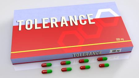 tolerancia: Medicamento Tolerancia Foto de archivo