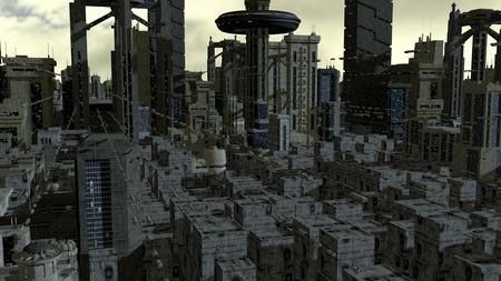 futuristic city: Futuristic city