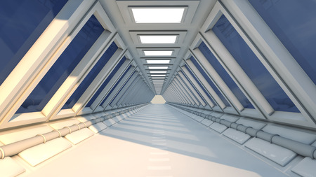 SCIFI futuristic corridor photo