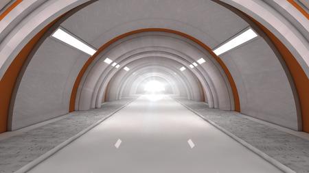 tunel: Futuristic tunel and light Stock Photo