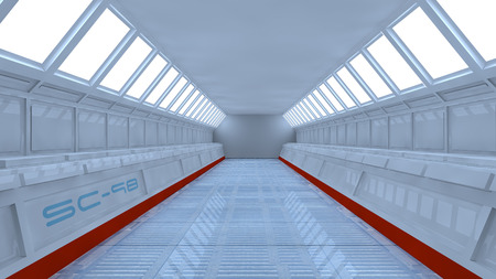 Futuristic tunel and light photo