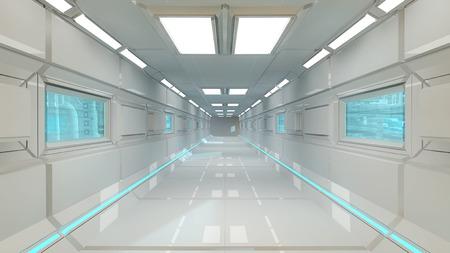Futuristic corridor background