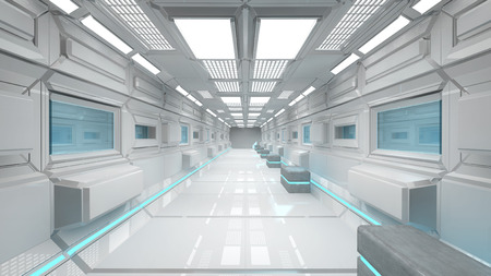 future city: Futuristic corridor background