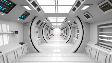 Futuristic corridor background