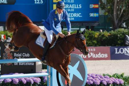 Rider AHLMANN, Christian. CSIO Barcelona, 103rd International Jumping Competition. Furusiyya FEI Nations Cup. Barcelona, Spain. October 11, 2014