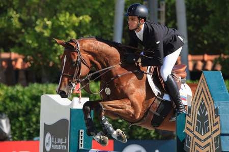 Rider ANDRADE, Emanuel. CSIO Barcelona, 103rd International Jumping Competition. Furusiyya FEI Nations Cup. Barcelona, Spain. October 11, 2014 Editorial