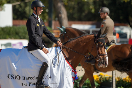 Rider KUTSCHER, Marco. CSIO Barcelona, 103rd International Jumping Competition. Furusiyya FEI Nations Cup. Barcelona, Spain. October 11, 2014 Editorial