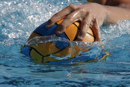 water energy: Waterpolo hand Stock Photo