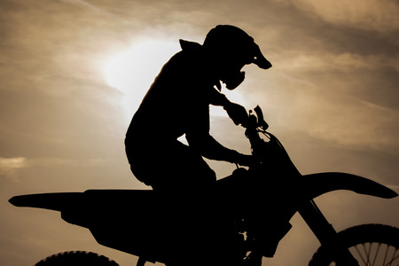 Motocross freedom Stock Photo